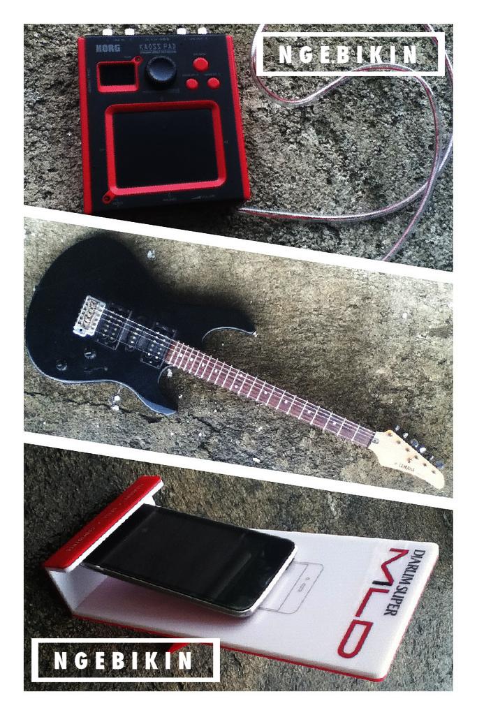 bahan yang dibutuhkan untuk membuat DIY guitar kaossilator mount