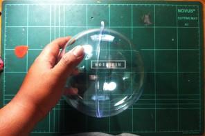 acrylic ball yang berdiameter sekitar 16 cm yang akan digunakan untuk membuat DIY dome ngebikin.com | Cara membuat DIY Dome Acrylic Ball