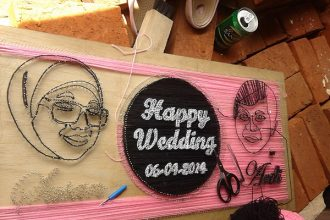 DIY stringart proses background