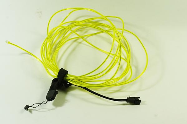 el wire untuk ngebikin hiasan dinding menyala dari el wire