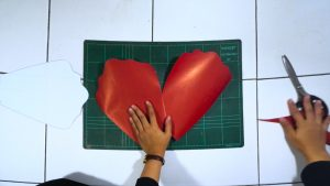 pola kelopak DIY paper flower