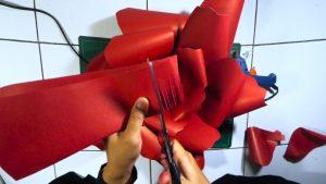 Membuat putik bunga DIY paper flower