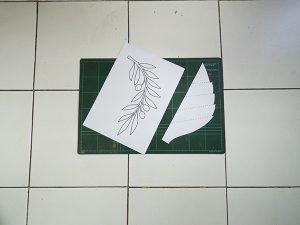 pola daun diy paper flower