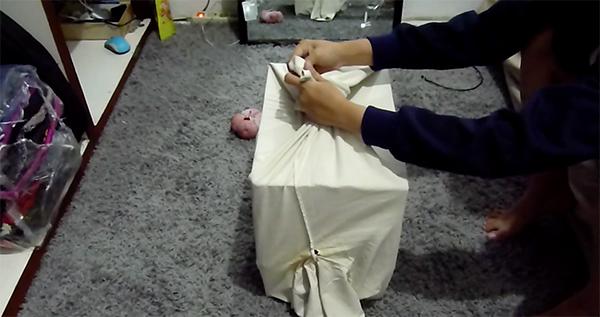 ikat bagian bawah baju cara membuat rumah kucing