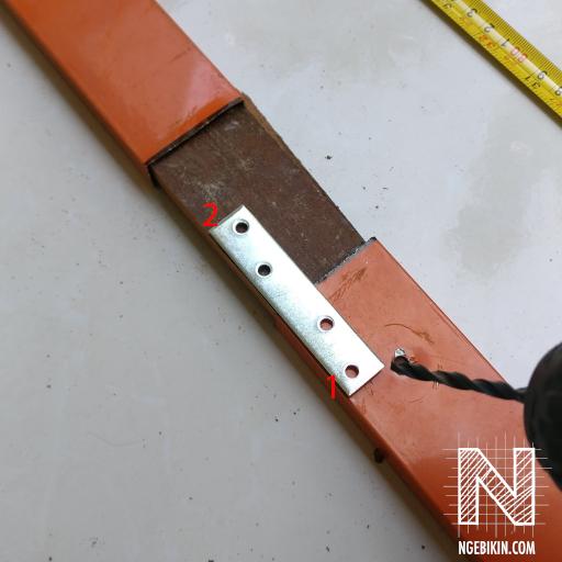 sambung kaki kayu dengan jemuran aluminium